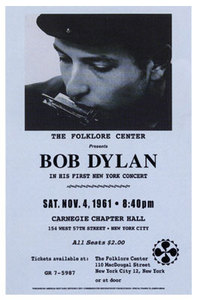 Bob+Dylan+1961+Reproduction+Concert+Poster