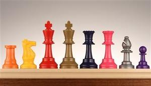 3+3%2F4+Colored+Chess+Pieces+-+Set+of+17+Pieces