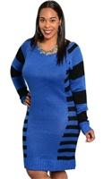 Plus+Size+Blue+Sweater+Dress
