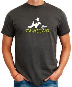 Curling+Silhouette+T-Shirt