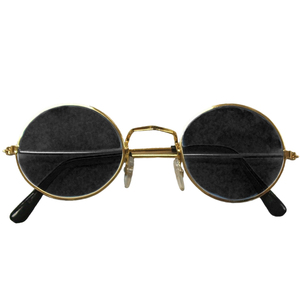 Gold+Frame+and+Black+Lens+Lennon+Style+Sunglasses+1087