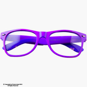 Purple+with+Clear+Lens+Wayfarer+Styles+Sunglasses+7076